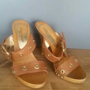 Dolce &Gabbana  wooden  sandals